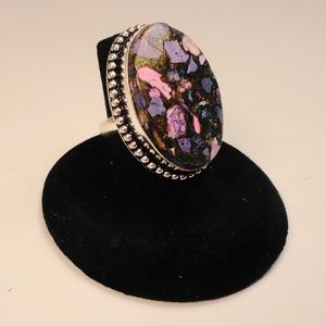 Jewelry - Purple Copper Charoite gemstone .925 Silver Ring